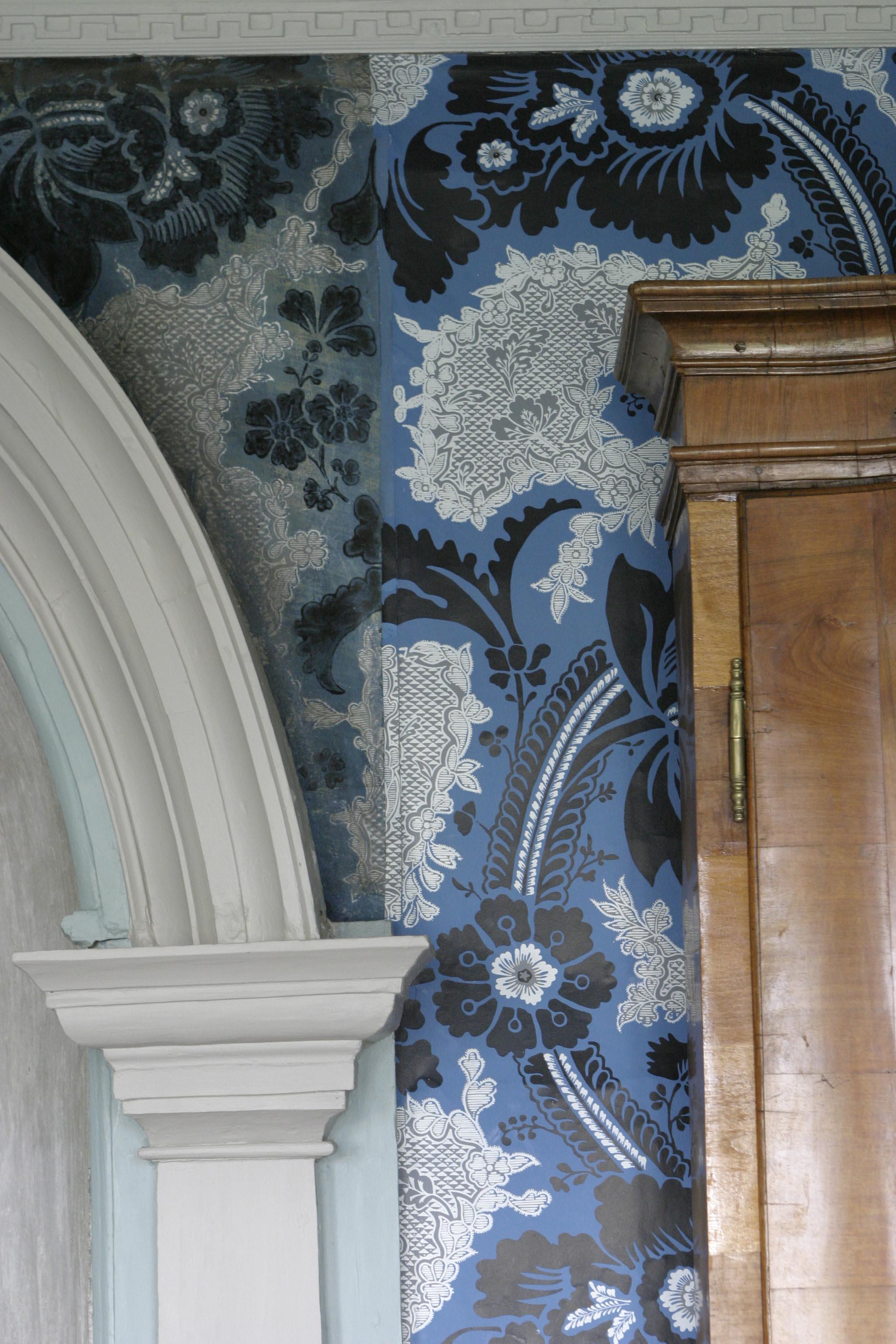 Rokokko tapet Damsgård fra Historiske Hus