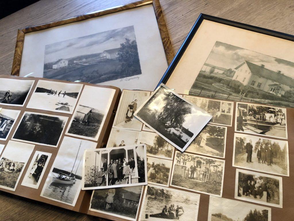Gamle fotografier av Skjeggenes gård - Historiske Hus